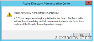 Active Directory Enable Recycle Bin