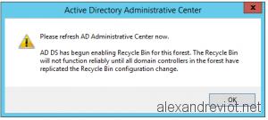 Active Directory Enable Recycle Bin
