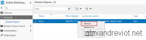 Active Directory Restore Item