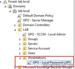 GPO Local  Admin Password
