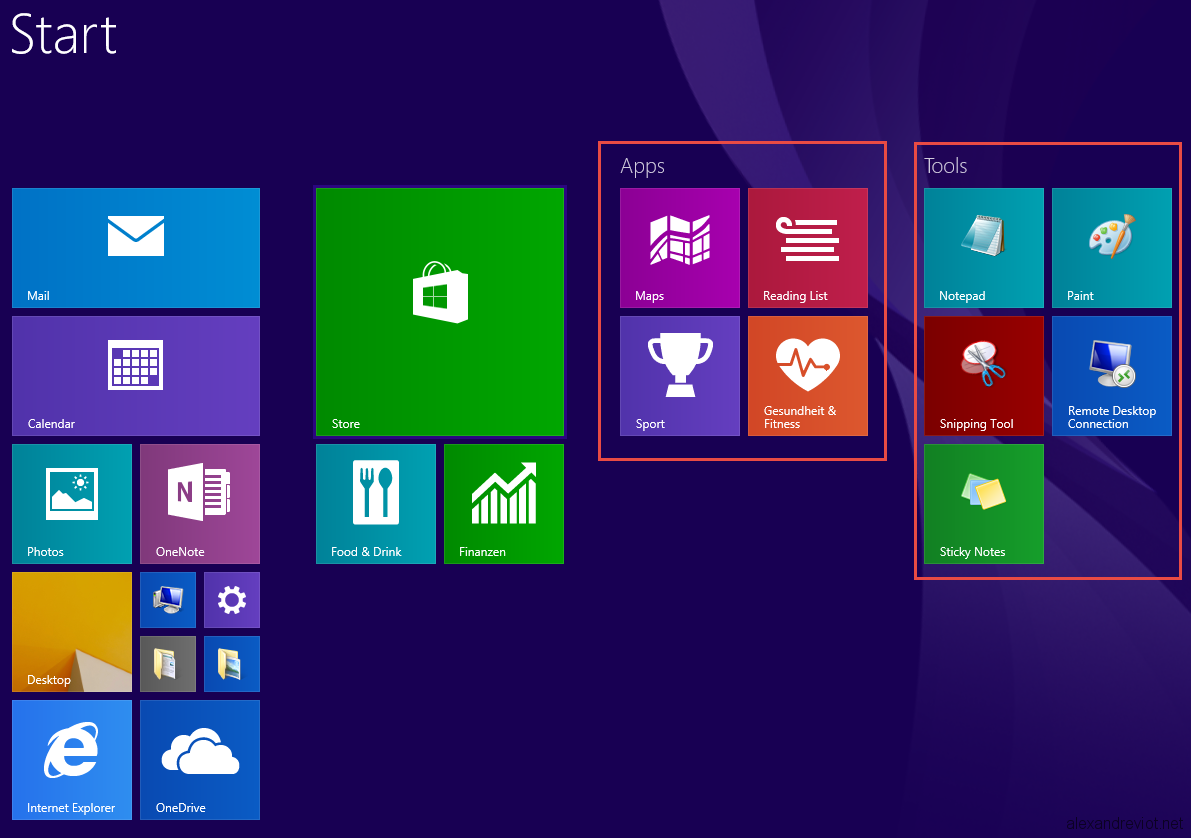 Microsoft windows 8 1 start menu bing images for Microsoft windows 1
