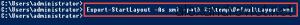 Export-StartLayout XML