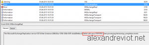 MSExchRepl error FFFFFFFD