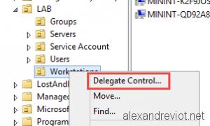 OU Delegate Control
