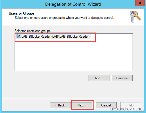 Active Directory - How to display Bitlocker Recovery Key