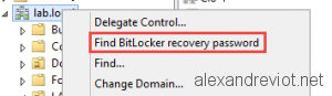Find Bitlocker Recovery Password
