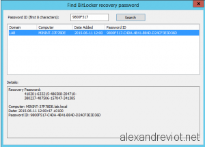 Bitlocker Find Recovery Key