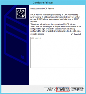 DHCP Failover Wizard