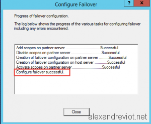 DHCP Failover Creation