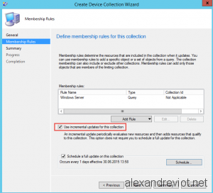 SCCM Collection Incremental