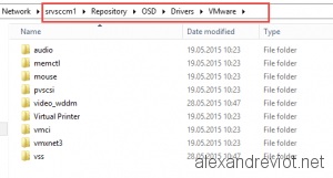 SCCM Repository VMware Drivers