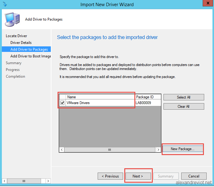 SCCM 2012 - How to import VMware Drivers - Alexandre VIOT