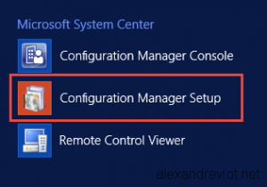SCCM Configuration Manager Setup
