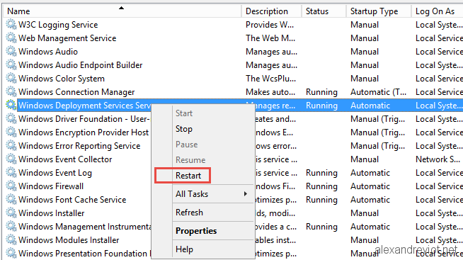 SCCM 2012 - How to increase TFTP / PXE boot speed - Alexandre VIOT