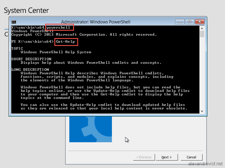 SCCM 2012 - Enable Powershell in WinPE - Alexandre VIOT