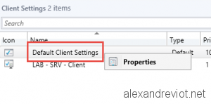 SCCM Default Client Settings