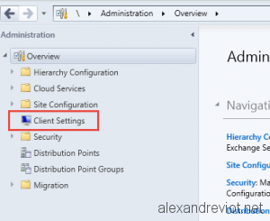 SCCM Client Policy
