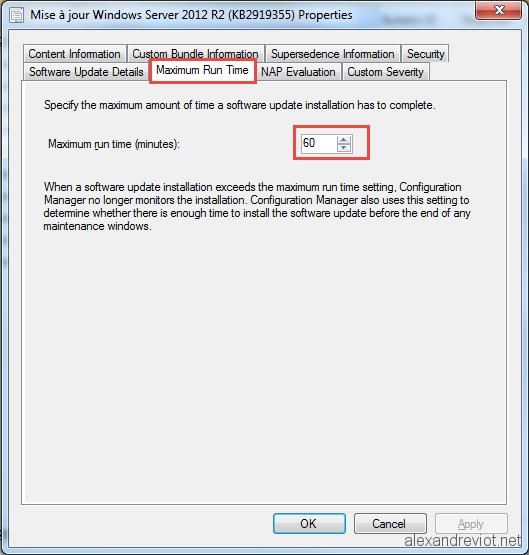 SCCM 2012 - Software Update failed 0x800f0821 - Alexandre VIOT