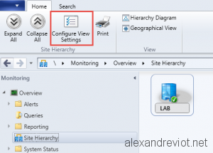 Site Configure View Settings