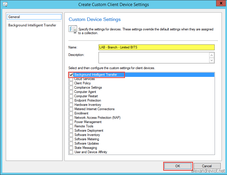 SCCM 2012 - Set BITS throttling on client - Alexandre VIOT