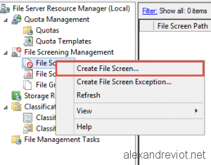 Create File Screen