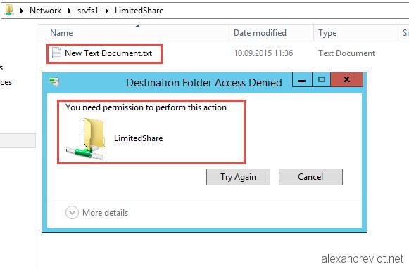 Server 2012 - Deny file extensions on shared folders - Alexandre VIOT