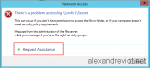 Access Denied Custom Message
