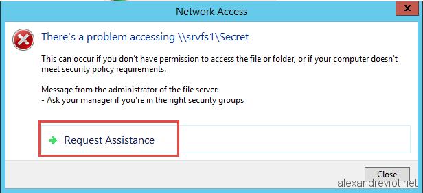Server 2012 - Customize Access Denied on shared folder - Alexandre VIOT