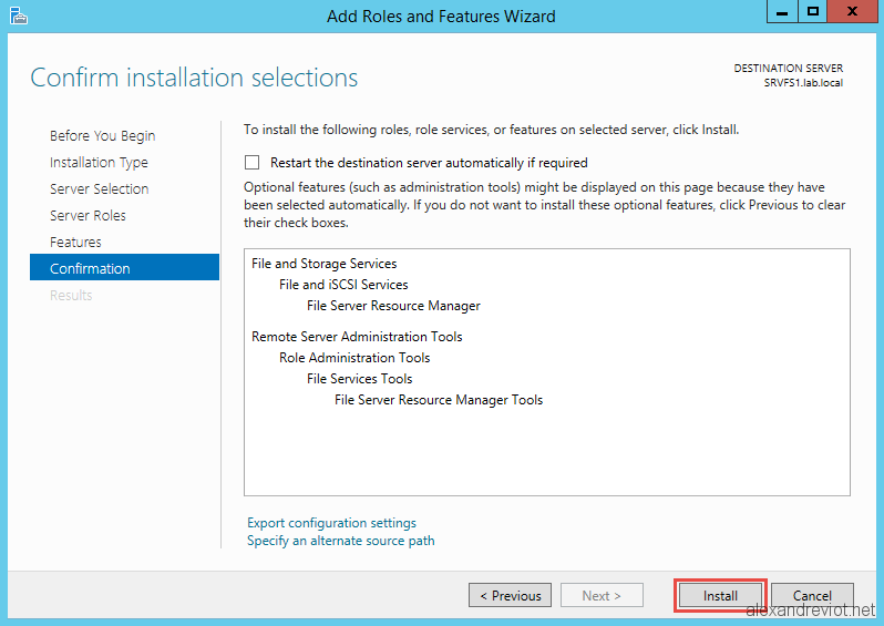 Server 2012 - Deny file extensions on shared folders