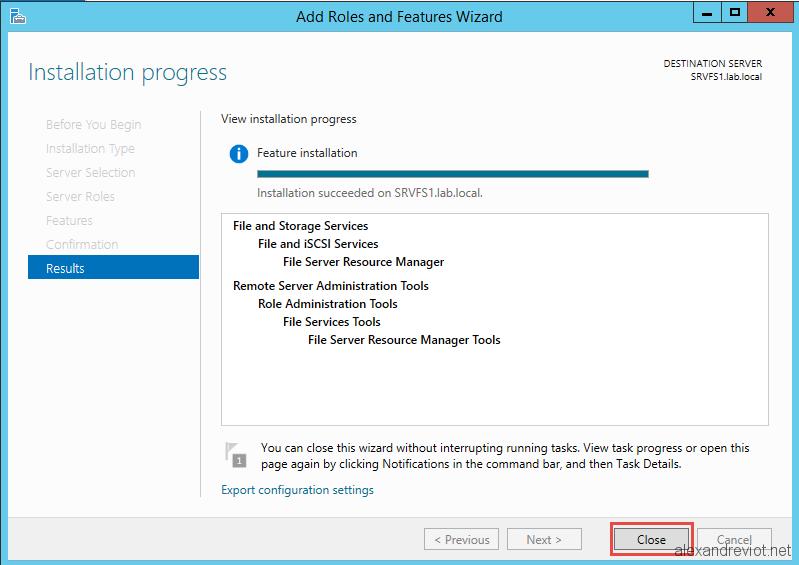 set up file sharing server 2012