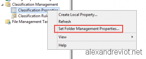 Folder Management Properties