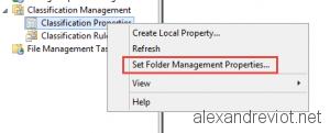 Folder Management Properties