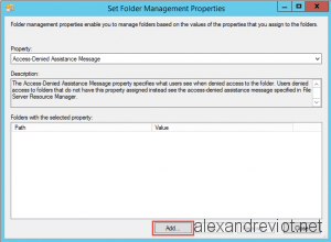 Set Folder Management Properties