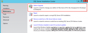 SQL Server Edition Upgrade
