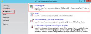 SQL Server Edition Upgrade