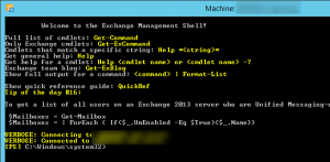 Exchange Powershell connected