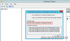 Toolbox Serialization Exception