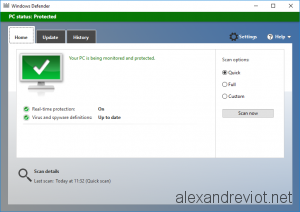 Windows Defender GUI