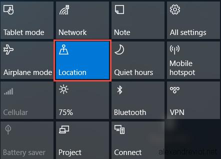 Windows 10 - Enable Automatic TimeZone - Alexandre VIOT