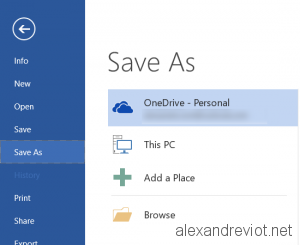 OneDrive Location