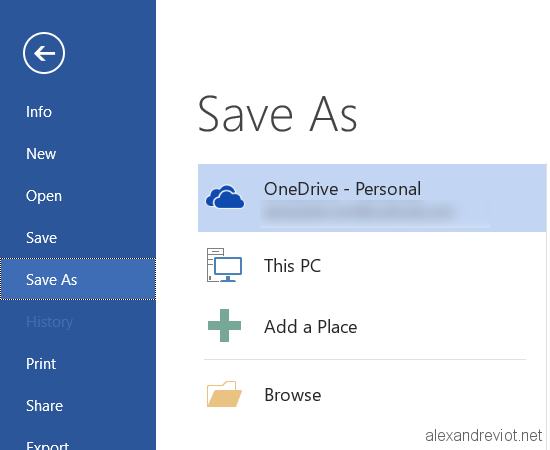 disable onedrive microsoft office 2013