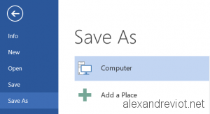 Save As Disable OneDrive